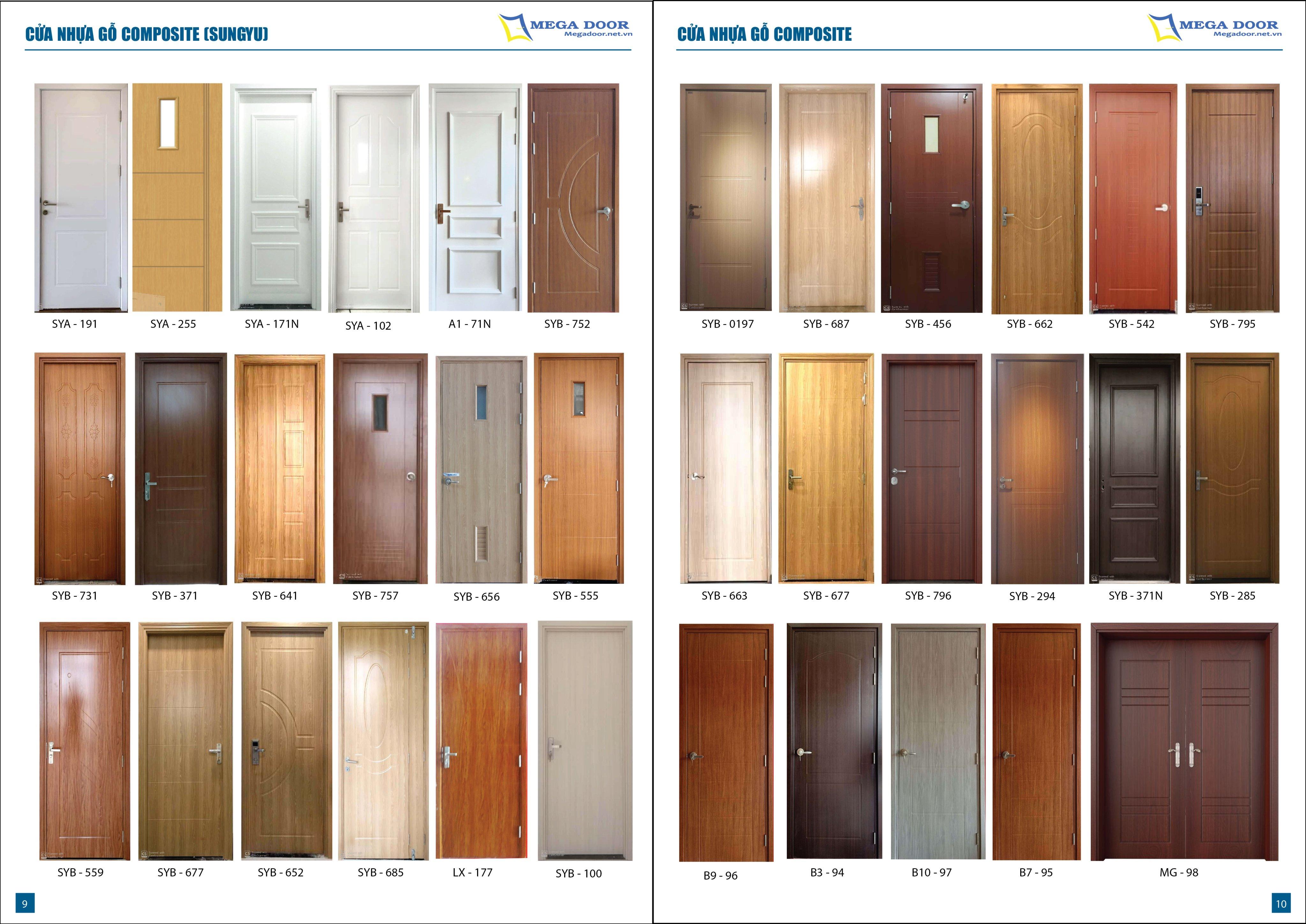 36 mẫu cửa composite mới nhất