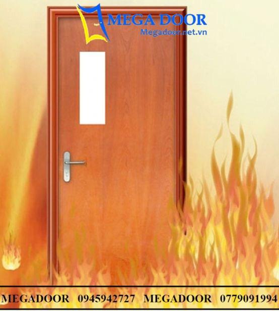 Cửa gỗ chống cháy 60 phút
