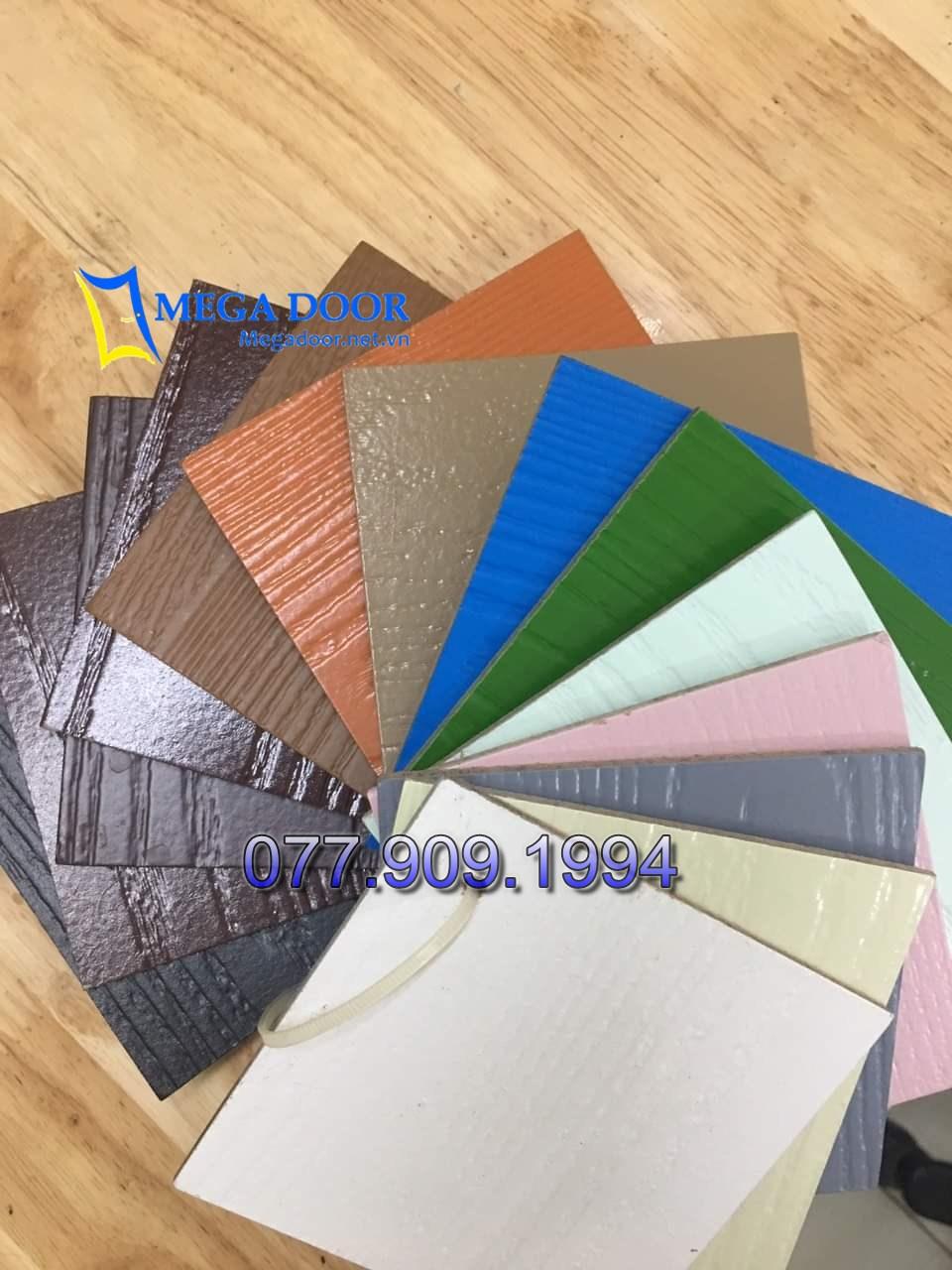 Mã màu cửa gỗ công nghiệp HDF Sơn